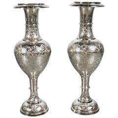 Silver Plated Table Lamps, circa 1930