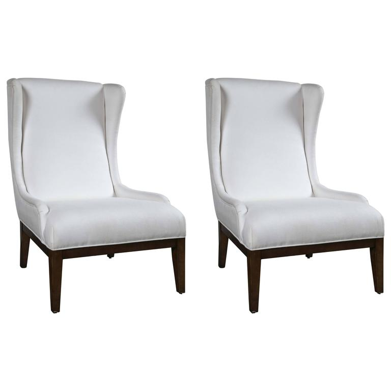 Unique Furniture For Sale: Pair Of Unique Wing Chairs For Sale At 1stdibs