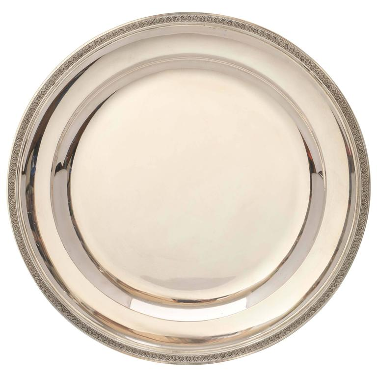 Empire Style Continental Silver Serving Platter