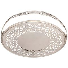 Lovely Sterling Silver Gorham Edwardian-Style Cake Basket on Pedestal Base