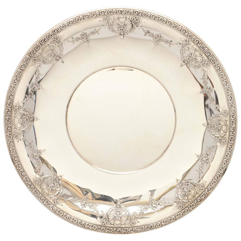 Sterling Silver Victorian-Style Serving Platter