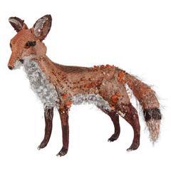 Decorative Beaded Fox