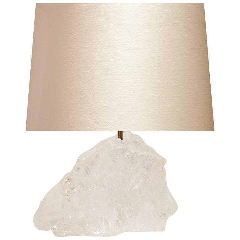 natural rock crystal quartz lamp for sale at 1stdibs