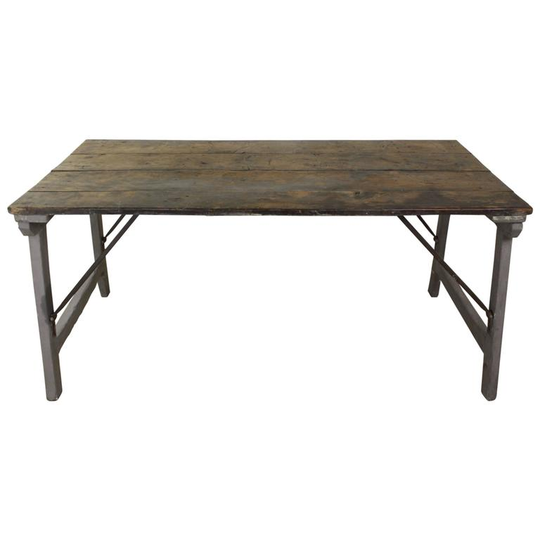 Farmhouse Kitchen Work Table: Antique Provincial Folding Table At 1stdibs