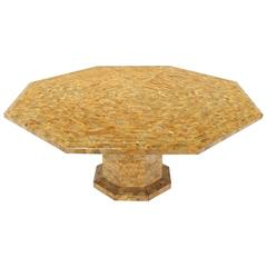 Very Large Tessellated Tile Octagon Single Base Dining Table