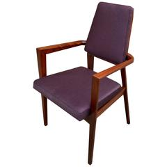 Mid-Century Modern Sculpted Walnut Armchair by Grosfeld House