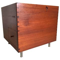 Hans J. Wegner at 34 Teak Bar Box Cube