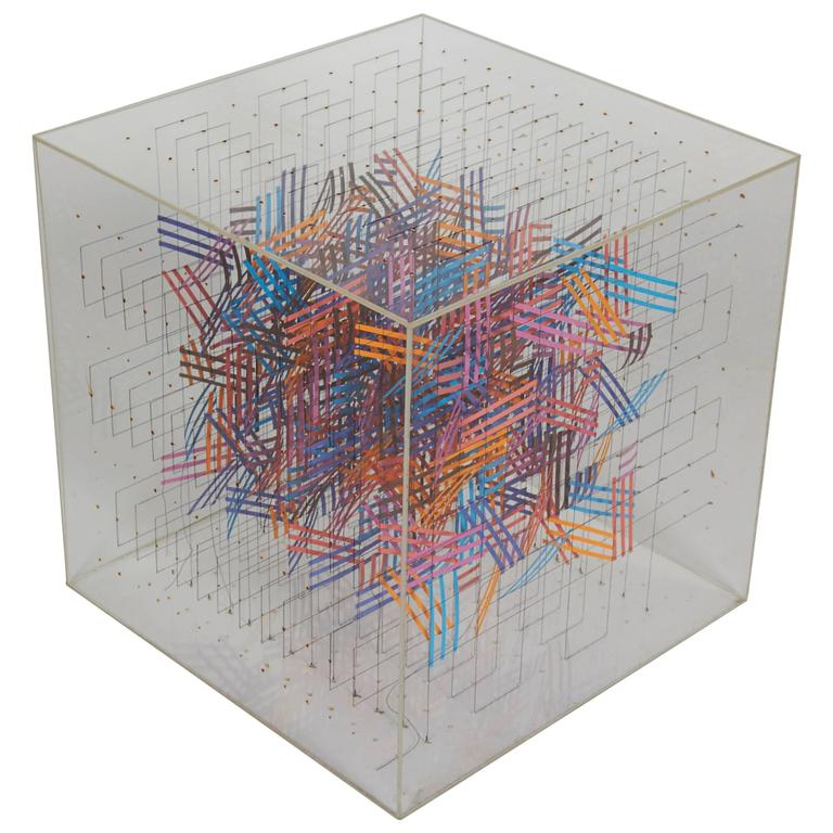Irving Harper Paper and String Sculpture in Acrylic Box  For Sale