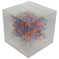 Irving Harper Paper and String Sculpture in Acrylic Box
