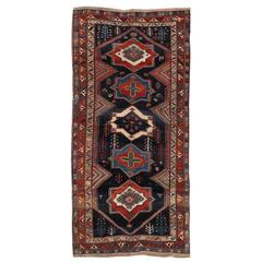 Early 20th Century Blue, Red Persian Bakhtiari Rug
