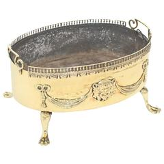 English Brass Summer Fireplace Grate, circa 1900