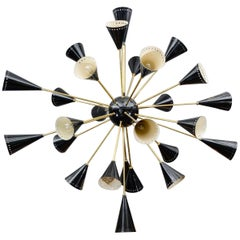 Oval Shaped Black Sconce Sputnik Chandelier