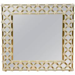 Mirror Surrounding with Murano Glass