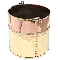 Dutch Extra Large Copper and Brass Bucket