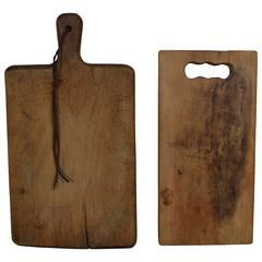 French Set of Two Cutting Boards, Early 20th Century