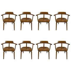 Walter Gropius Armchairs W199 Set of Eight
