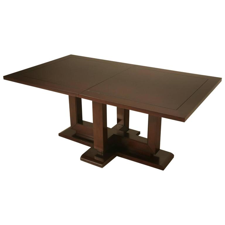Modern Dining Table With Large Leaf For Sale At 1stdibs