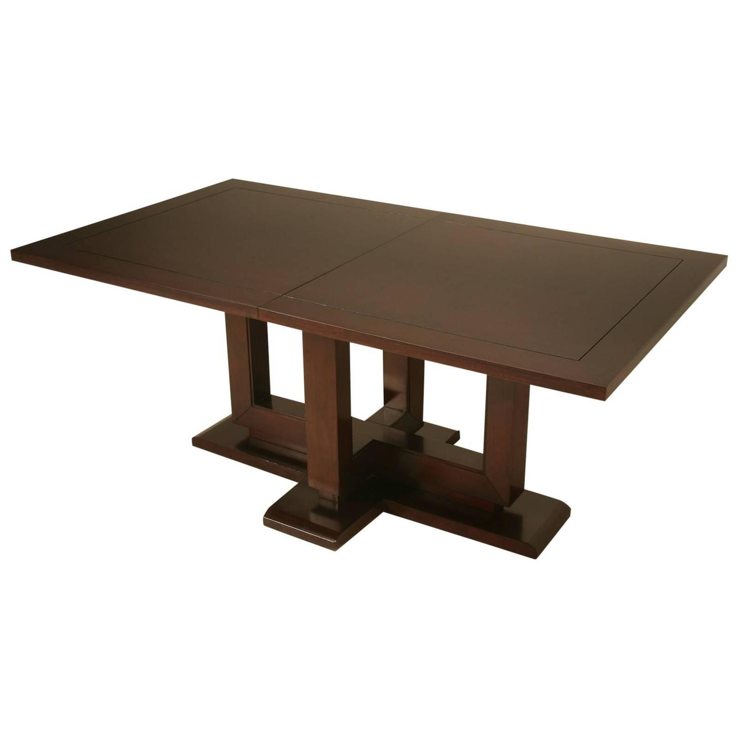 Modern dining table with large leaf for sale at 1stdibs for Large kitchen tables with leaves