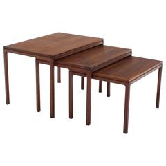 Set of Three Teak Nesting Tables by Dux