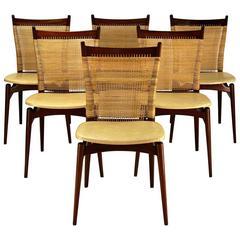 Jos De Mey, Set of Six Dining Chairs, 1957