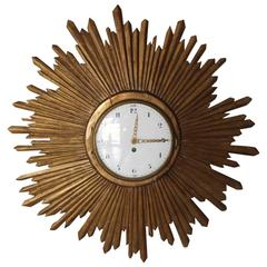 Exceptional and Rare Early 19th Century French Sunburst Clock