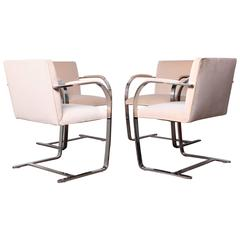 Four Brno Chairs by Mies Van der Rohe for Knoll