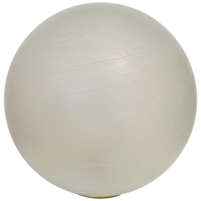 Italian Frosted Murano Glass Globe Table Lamp or Floor Lamp For Sale