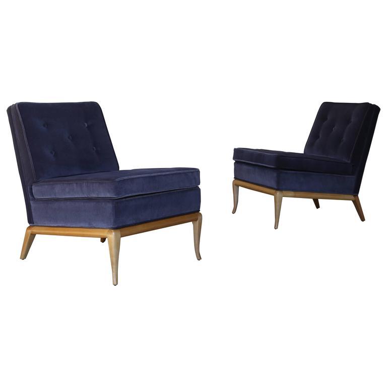 Pair of Slipper Chairs by T.H. Robsjohn Gibbings