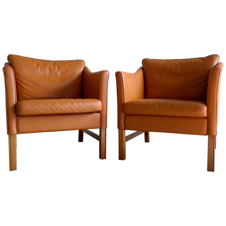 Pair of Børge Mogensen Style Lounge Chairs by Takashi Okamura for Svend Skipper