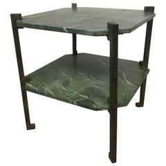 Verde Italia Granite and Bronze End Table