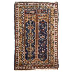 Antique Turkish Megri Prayer Rug with Yellow Field, Mid-19th Century
