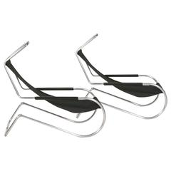 "Pair of Giudici ""Lido"" Deckchairs"