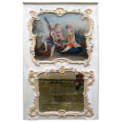 18th Century French, Provence Trumeau Mirror