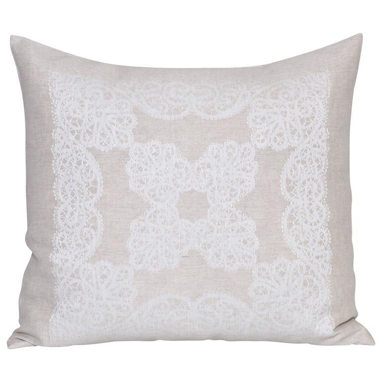 Vintage Irish Linen Cushion Pillow