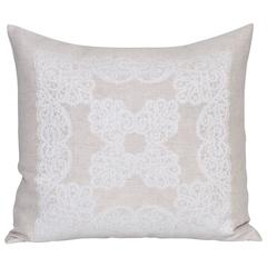 Vintage Irish Linen Cushion Pillow