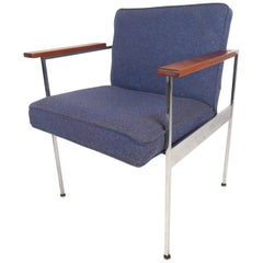 Mid-Century Modern Armchair in the Style of Milo Baughman
