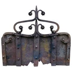Early 15th Century Cast Iron Fireback