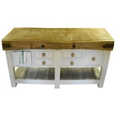 English Butcher Block off-White Multi Drawer Base