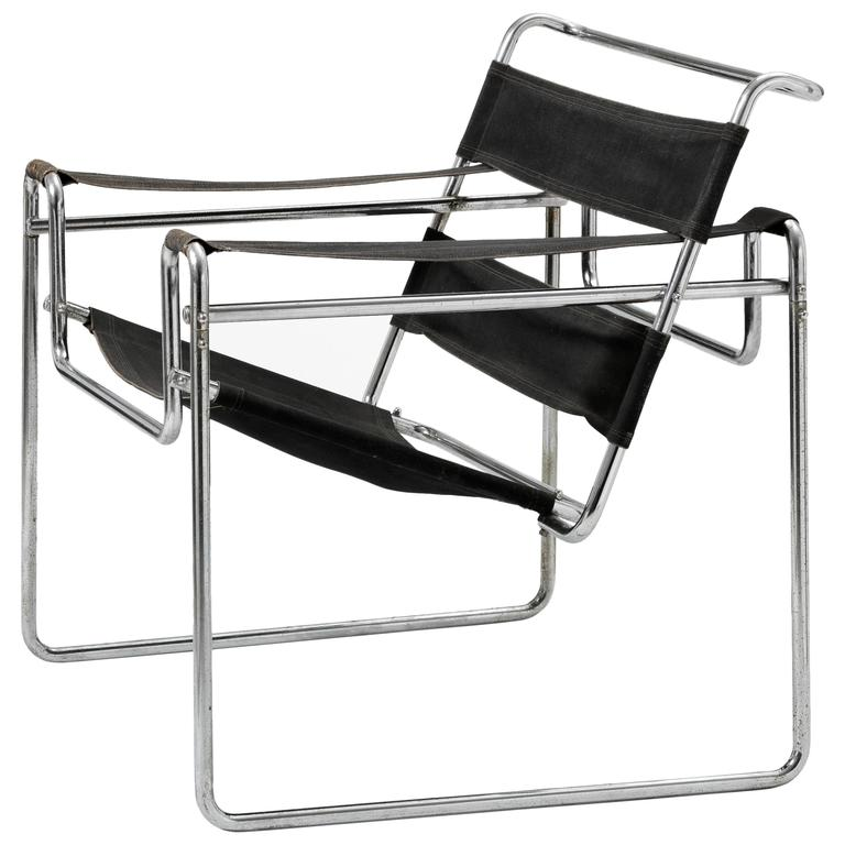 very early wassily chair model b3 by marcel breuer for. Black Bedroom Furniture Sets. Home Design Ideas