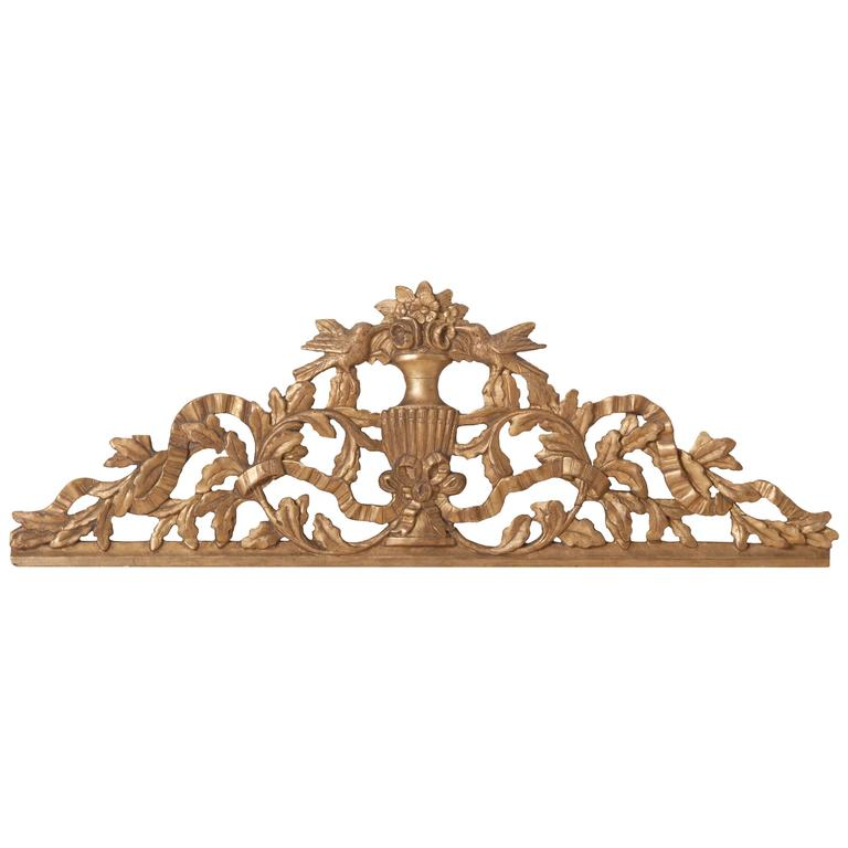 French 19th Century Giltwood Carving