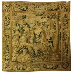 Huge Vlamish Tapestry of King Solomon Meeting the Queen of Sheba