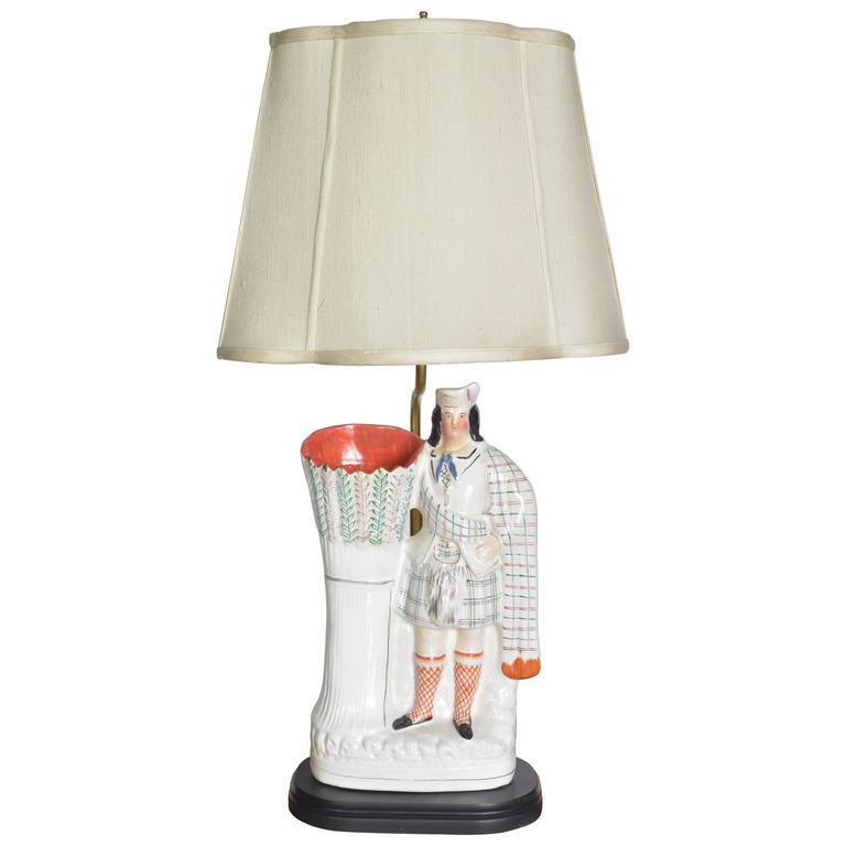 Staffordshire Figure As A Lamp For Sale At 1stdibs