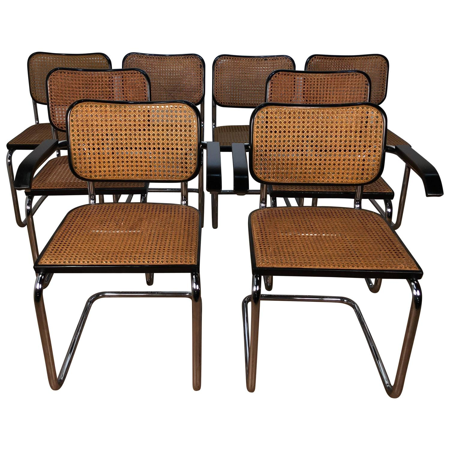 Set of Eight Marcel Breuer Cesca Chairs at 1stdibs