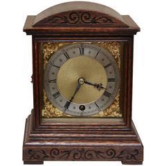 Edwardian Oak Timepiece Mantel Clock
