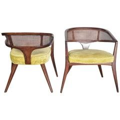 Pair of Midcentury Curved Back Chairs