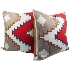 Pair of Navajo Rug Pillows