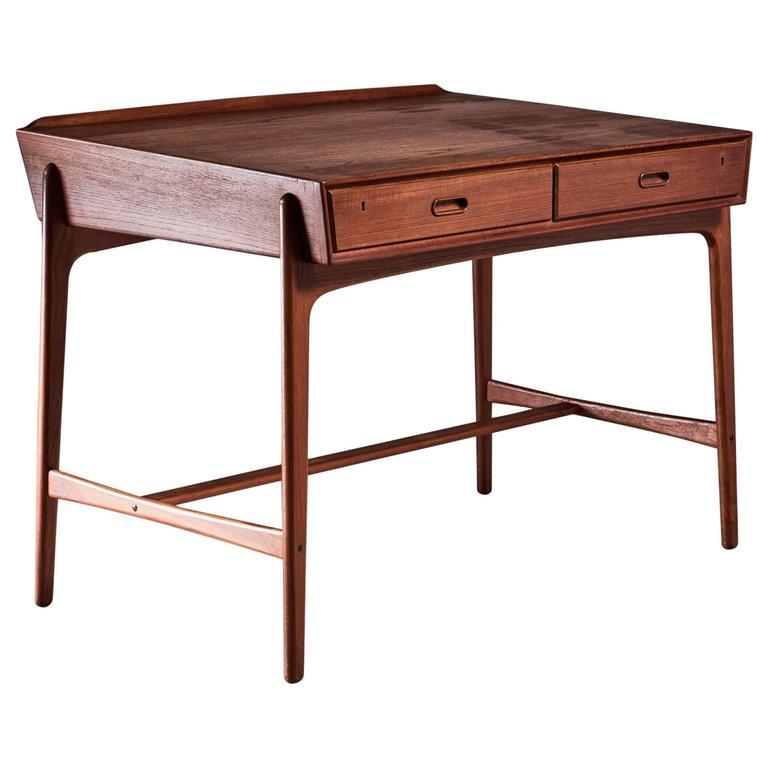 Svend Aage Madsen Freestanding Desk for Sigurd Hansen, Denmark, 1950s 1