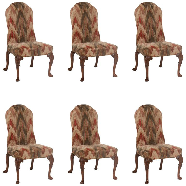 Set of Six George II Period Dining Chairs For Sale