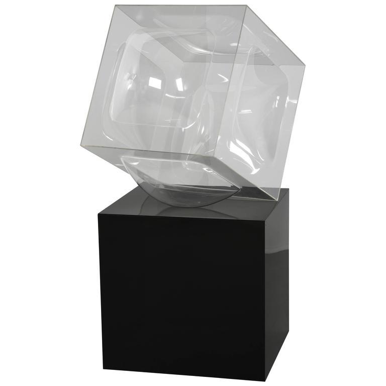 Aaronel deRoy Gruber Cube Sculpture, 1976