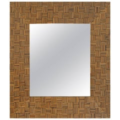 Andrianna Shamaris Bamboo Sliced Mirror